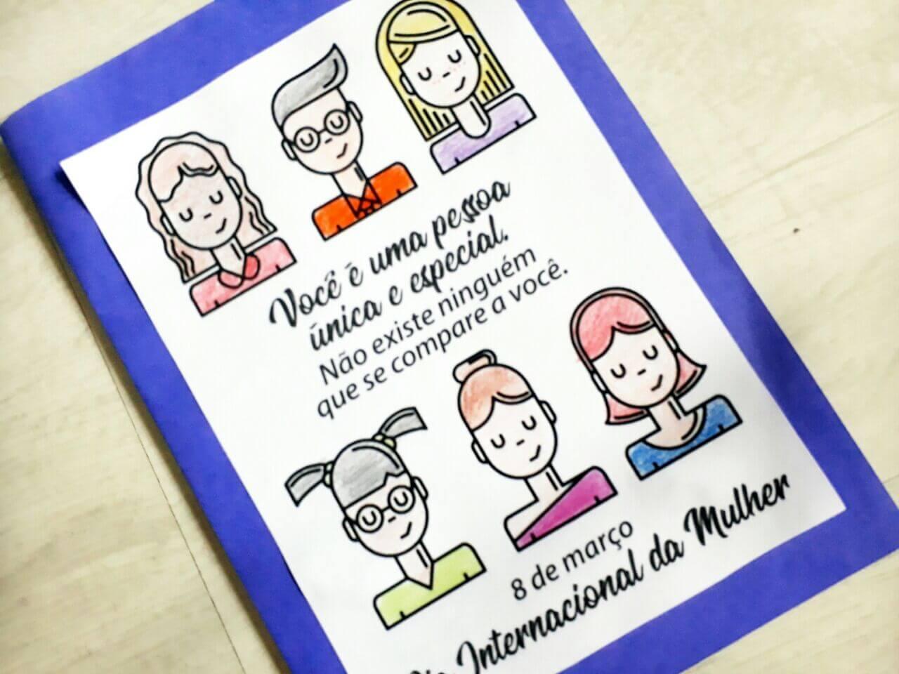 Cartão Dia Internacional das Mulheres