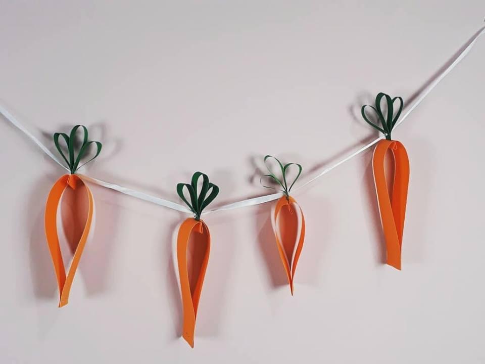 Como fazer Guirlanda de Cenouras para Páscoa