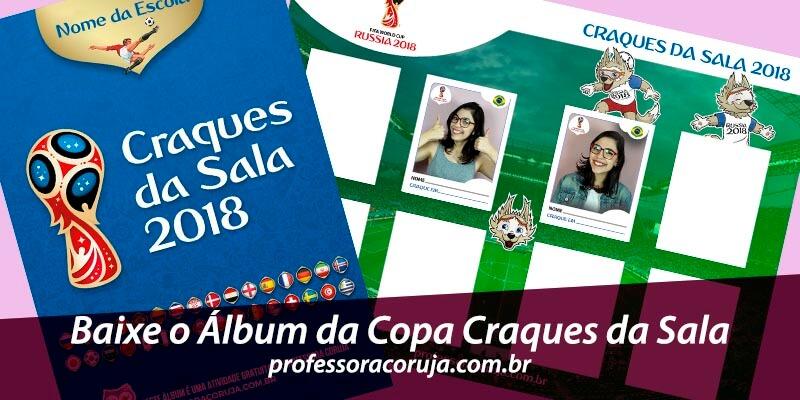 Álbum da Copa Os Craques da Sala