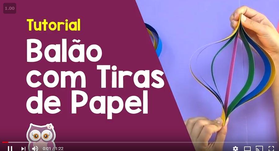 Como fazer Balão com tiras de papel