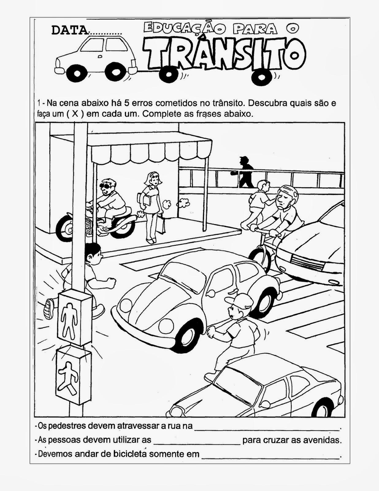 Atividades Dia Nacional do Trânsito
