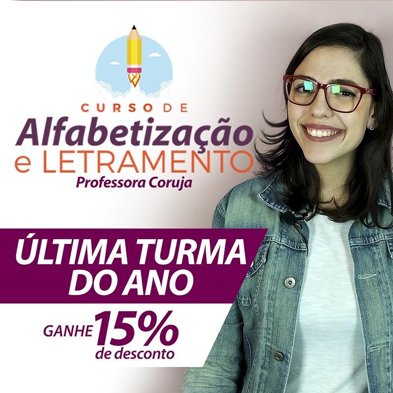 Curso de Alfabetização e Letramento com 15% de desconto!