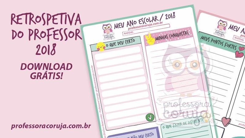 Meu Ano Escolar 2018 – Folha para download