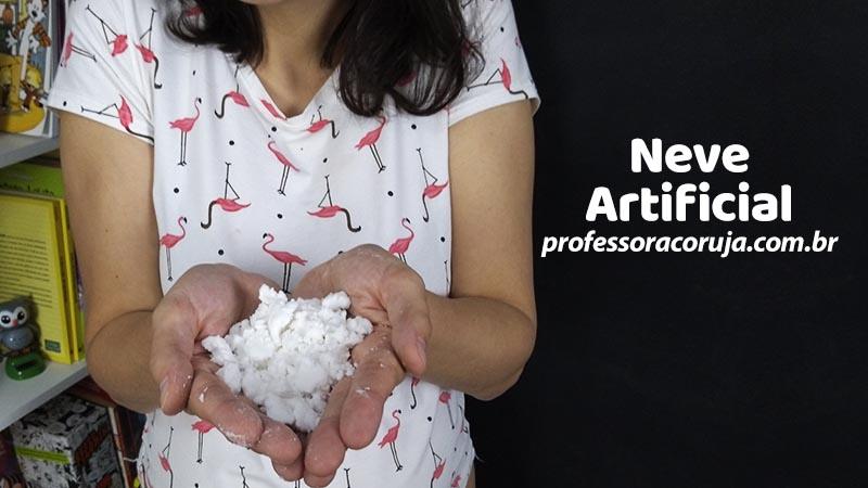 Como fazer Neve artificial