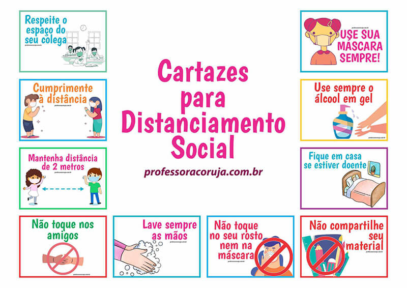 Cartazes para Distanciamento Social na Pandemia