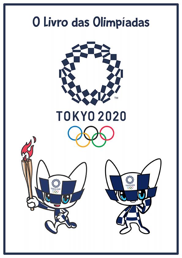 Mascotes das Olimpíadas de Tokyo para Colorir